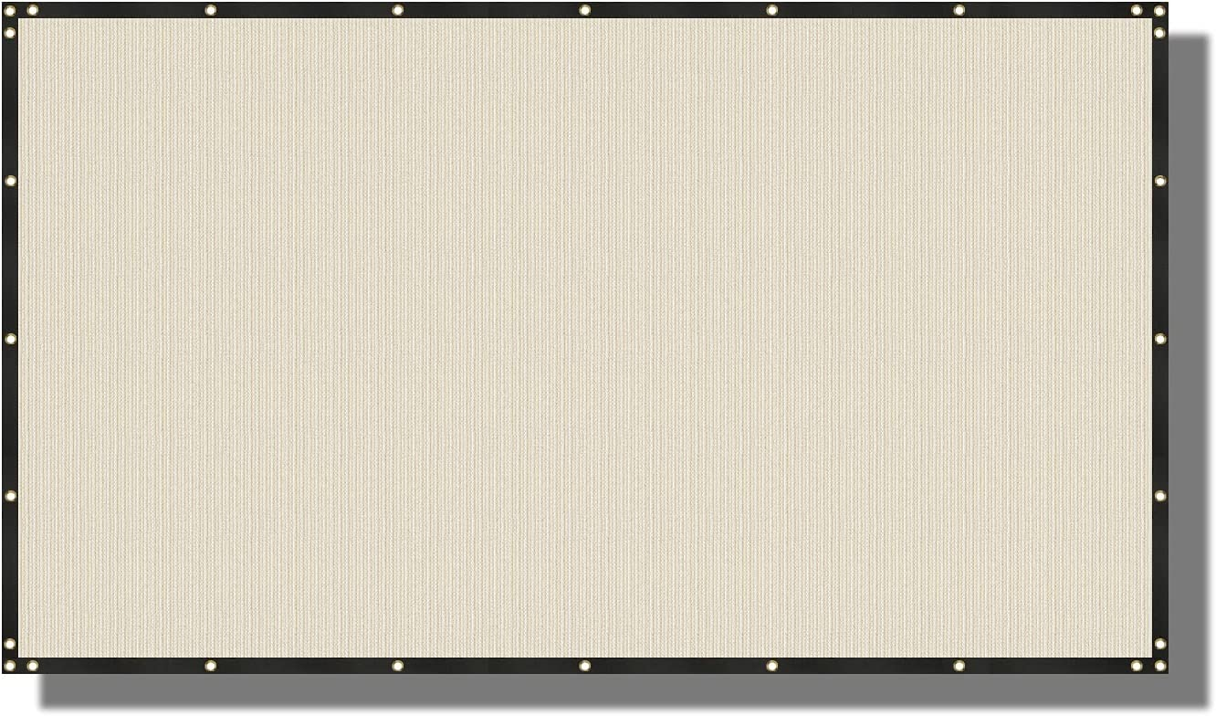 Coarbor 4' x 92' High quality Privacy Fence Mesh Screen Daily bargain sale Brass Grommets with 1