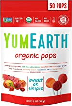 YumEarth Organic Lollipops, Assorted Flavors, 50 Count (Pack of 1)