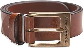 Hawkdale Mens Full Grain Leather Belt - Black, Brown Strap - Brass, Silver Buckle # HD-FullGrain