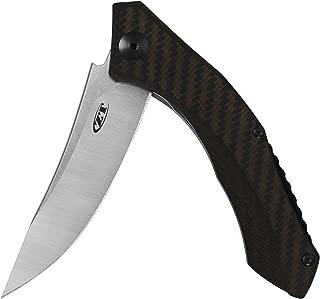 "Zero Tolerance 0460 Pocket Knife; 3.25"" S35VN Stainless Steel Blade, Bronze Carbon Fiber, Titanium Handle Scales and Titanium Frame Lock, KVT Ball-Bearing Opening, Single-Position Pocketclip; 2.3 OZ"