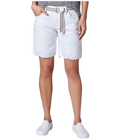 Jag Jeans Demi Belted Denim Boyfriend Shorts (White) Women