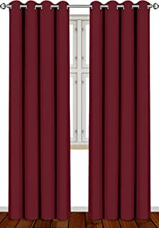 Utopia Bedding 2 Panels Grommet Blackout Curtains Thermal Insulated for Bedroom, W52 x..