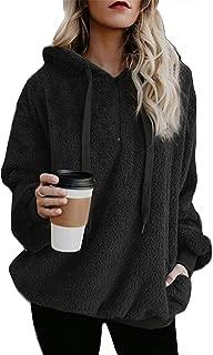onlypuff Sherpa Pullover Sweaters for Women Winter Warm Tunic Tops Sweatshirts