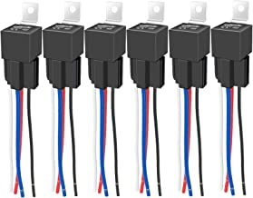 Best IRHAPSODY 4 Pin 40/30 AMP 12 V DC Relay and Harness - Heavy Duty 12 AWG Tinned Copper Wires, Bosch Style SPST Automotive Relay Review