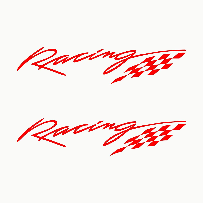 Rojo Autodomy Pegatinas Racing Sport Tuning JDM OEM Pack 2 Unidades para Coche