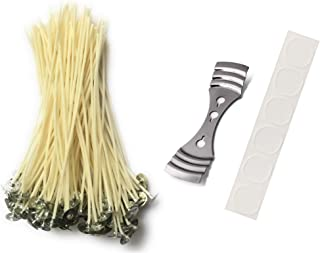 Candle Wicks for Making Soy Candles - 60 Pieces, 6