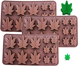 Set of 3 X Silicone Lollipop Gummy Brownies Had Candy Cannabis Weed Edible Leaf Mold Ice Cube Marijuana Chocolate Soap Candle Tray Party Maker 3X Marijuana Mold Brown