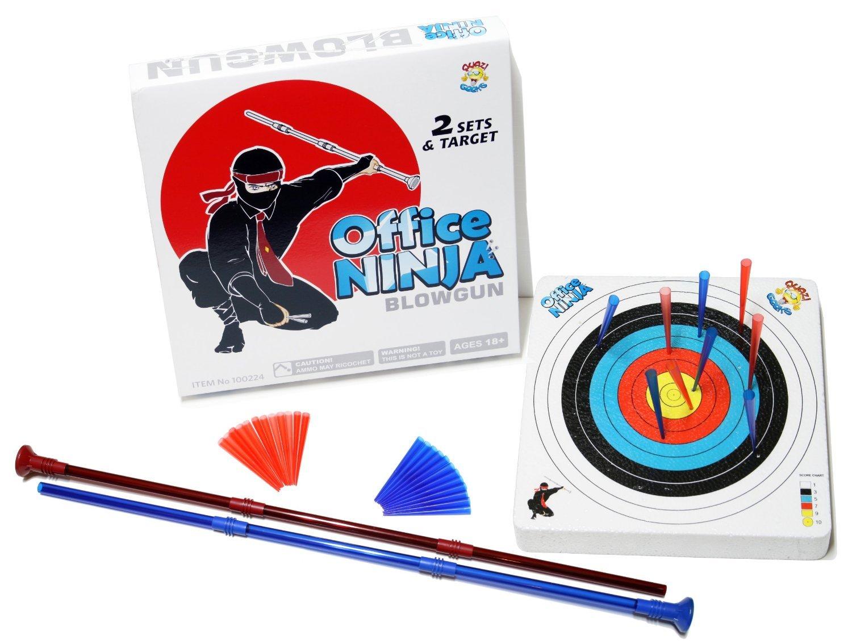 Office Ninja Desk Toy Blowgun