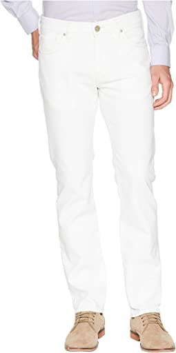 34 Heritage Courage Straight Leg in White Denim