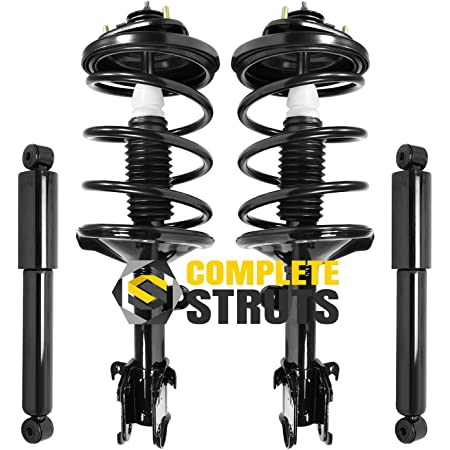 MOSTPLUS 4 Set Rear and Front Quick Complete Struts Shocks Absorbers 171597 171598 344353 37218 Compatible for 1999-2004 Honda Odyssey