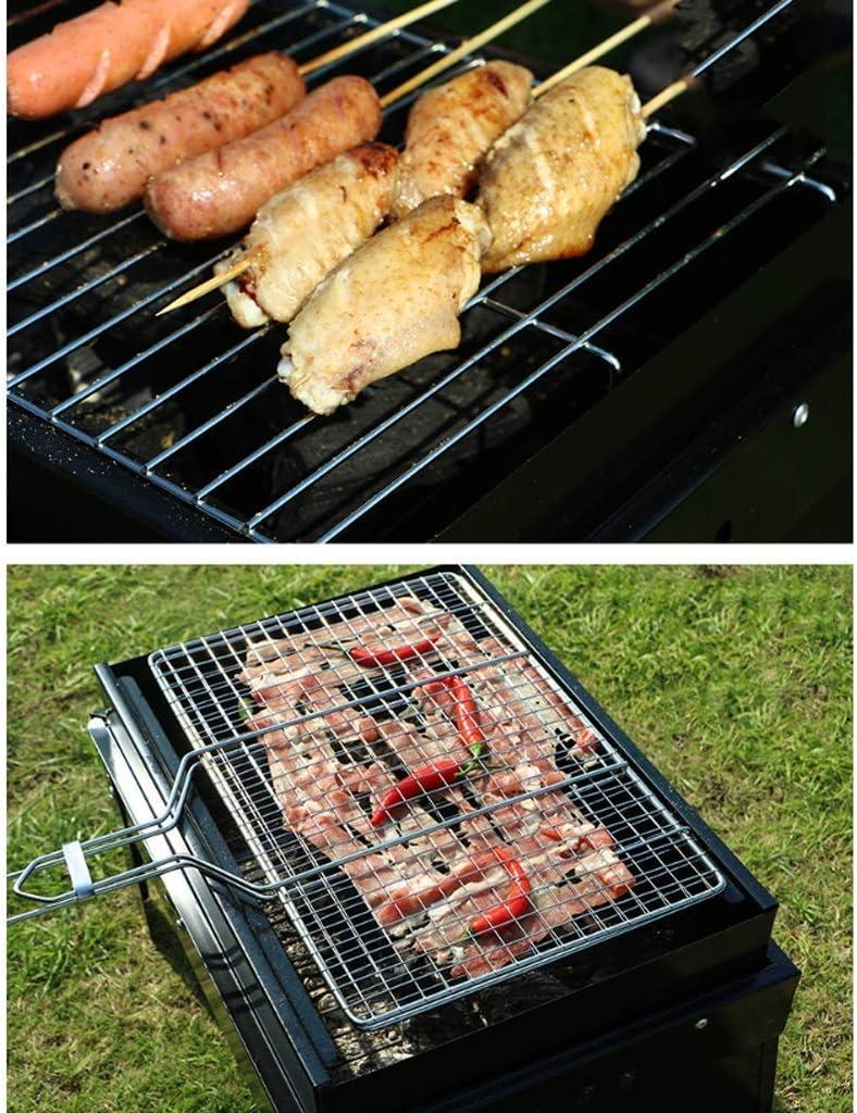 Barbecue Grill Barbecue Grill, Barbecue au charbon Portable pliant extérieur Ménage carbone Grill, cheminee RVTYR (Color : Black) Black