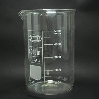 BIG-DEAL 5000mL Glass Beaker,5 Litre,Laboratory Chemistry Glassware