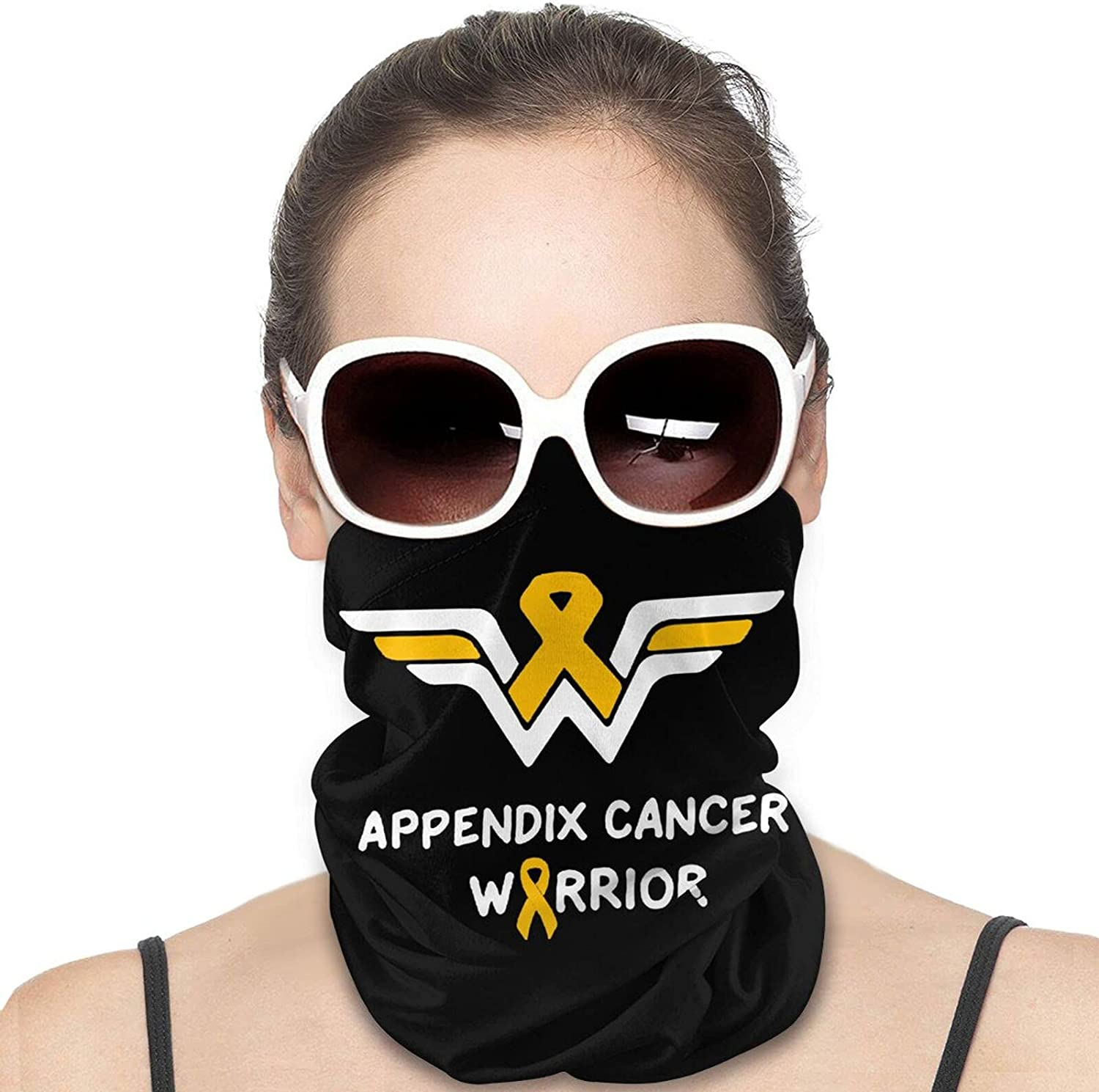 Appendix Cancer Awareness Round Neck Gaiter Bandnas Face Cover Uv Protection Prevent bask in Ice Scarf Headbands Perfect for Motorcycle Cycling Running Festival Raves Outdoors