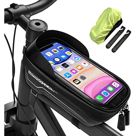 Bike Bicycle Frame Pannier Front Tube Bag Case to Phone Holder Keeper BS