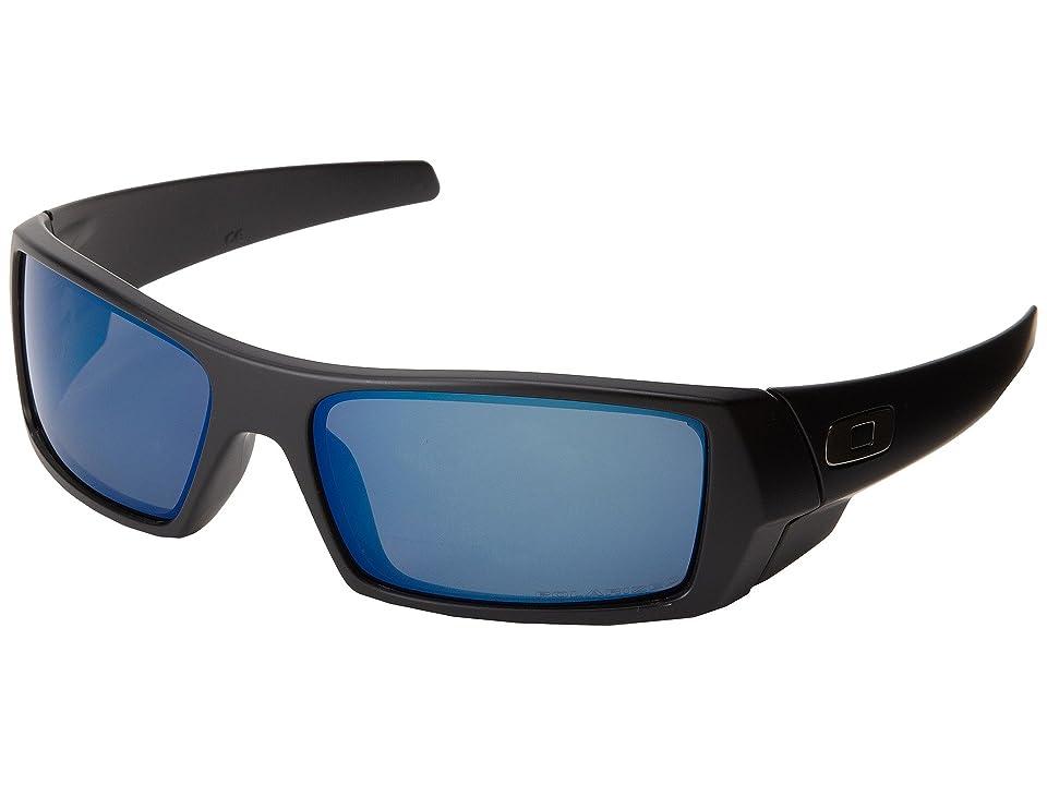 Oakley GasCan (Matte Black w/Ice Iridium Polarized) Sport Sunglasses