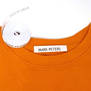 100 Personalised Iron-on Fabric Labels to Mark Your Clothes. Gentle with Your Kids Skin, for Children's School Uniform/Clothes/Clothing Labels for Kids, Baby and Children.