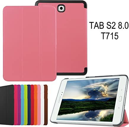 Asng Samsung Galaxy Tab S2 8.0 Case - Slim Lightweight Smart-Shell Stand Cover Case with Auto Wake/Sleep for Samsung Galaxy Tab S2/S2 Nook 8.0 inch Tablet (SM-T710/T715/T713/T719) (Pink)