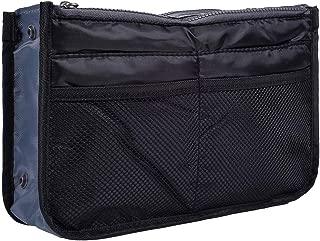 koboome Women Travel Insert Handbag Organiser Purse Large Liner Organizer Tidy BagTravel Double Zipper Cosmetic Bag