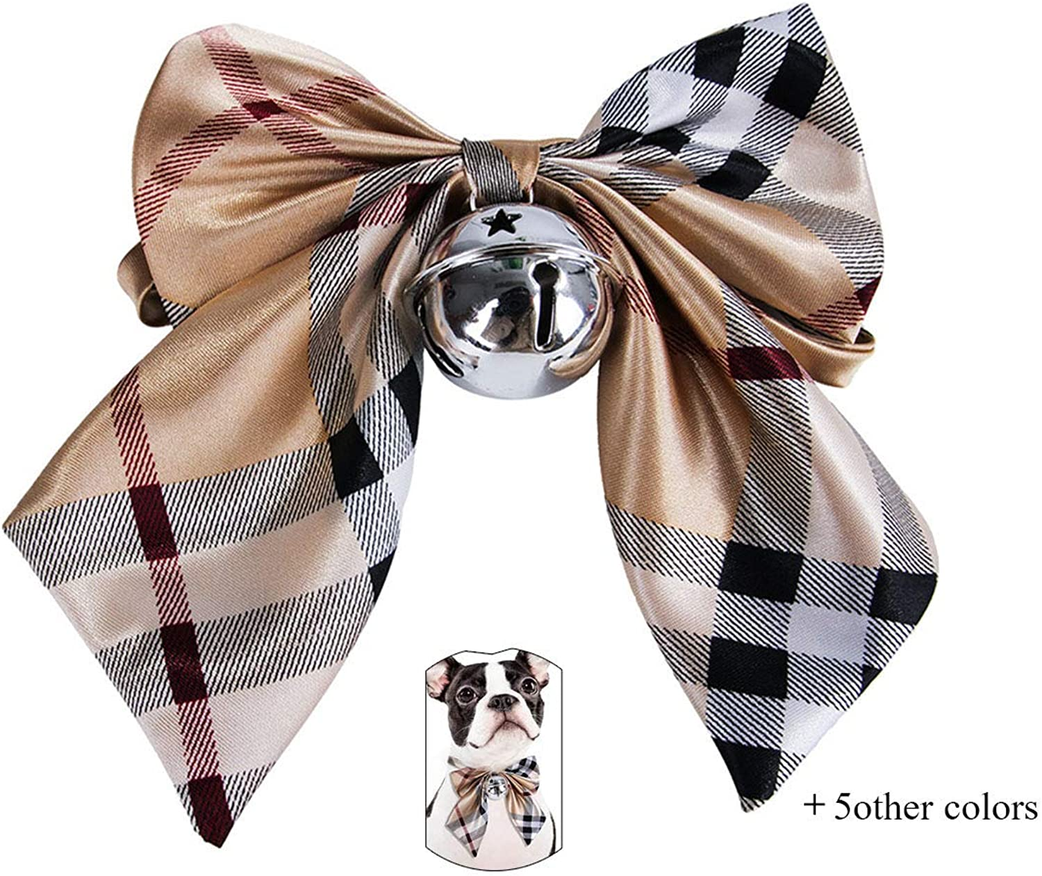 6 Loaded Pet Collars Small and MediumSized Bow Tie Teddy Shiba Inu Dog Bells Bow Tie