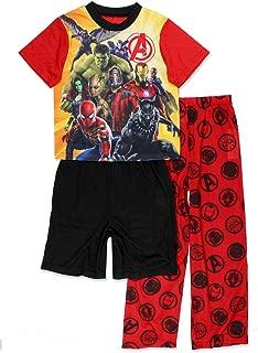 Avengers Infinity War Boy's 3 Piece Shorts Pajamas Set