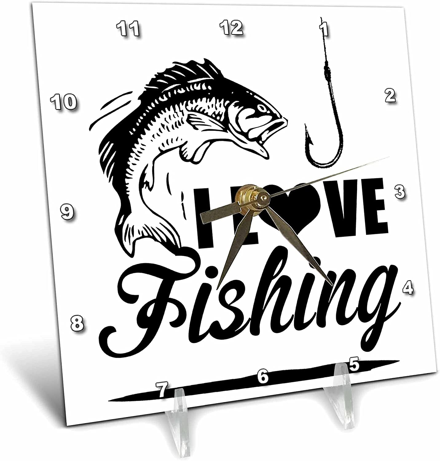 3dRose I Love Fishing Same day shipping Great Gift Fisherman for Desk Clo Fisher Minneapolis Mall -