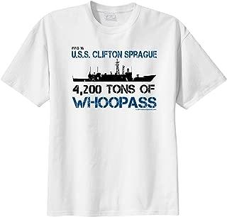 ShipShirts™ Big Boy's FFG 16 USS Clifton Sprague 4,200 tons of Whoopass Short Sleeve T-Shirt