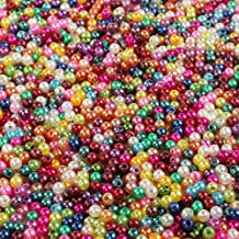 1000 Wachsperlen 6mm Acryl Perlen Bunte Kunststoff Schmuck Deko Hochzeit P26