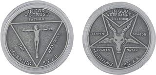 BEKECH SatanCoinsLuciferPentecostalCoinTV Show Lucifer Morningstar Inspired Pentecostal Coin Comic Con Cosplay Access...