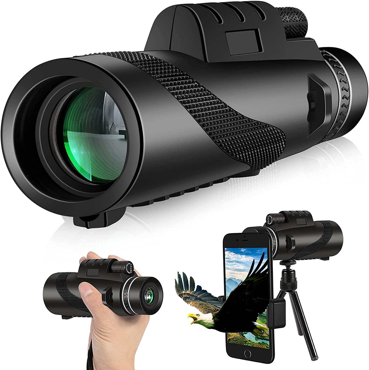Monocular Telescope 12X50 2021 spring Weekly update and summer new High Waterproof Definition