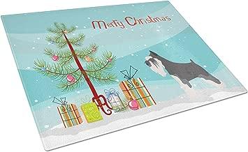 Caroline's Treasures BB8460LCB Miniature Schnauzer Christmas Chopping Board Large Multicolor