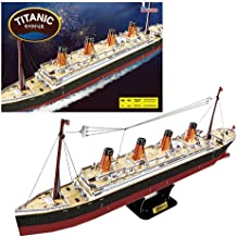 The Titanic 3D Building Puzzles for Adults and Kids | 186 Pieces | Ship Model Kit Replica Toy | by POP-OUT WORLD