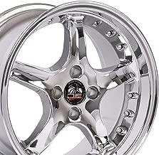OE Wheels 17 Inch Fit Mustang 4 Lug Cobra R Deep Dish Chrome w/Rivets 17x8 Rims SET