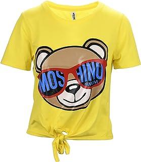 7f6df02e55 Moschino Swim Teddy Bear Yellow Fiocco Maglia Donna Women's T-Shirt