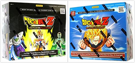 DragonBall Z Collectible Card Game Evolution and Heroes and VIllians Booster Box Bundle, 1 of Each