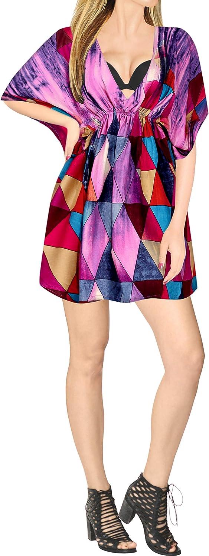 LA LEELA Women's One Size Swim Loose Flowy Kimono Cardigan Open Front Maxi Dress