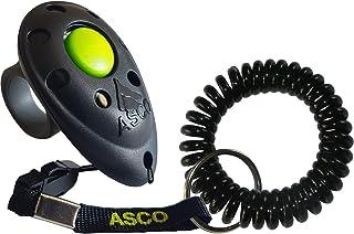 ASCO Clicker Professionnel pour Doigt avec Bracelet Spirale, Entraînement Dressage pour Chiens Chats Chevaux, Finger Click...