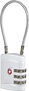 Samsonite Global Travel Accessories Three Dial TSA Cable Luggage Lock, 10 cm, Grey (Alu)