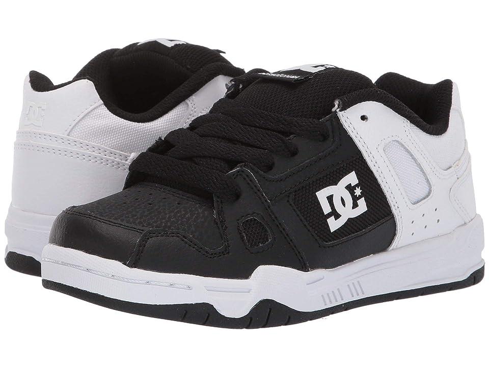 DC Kids Stag (Little Kid/Big Kid) (Black/White Fade) Boys Shoes