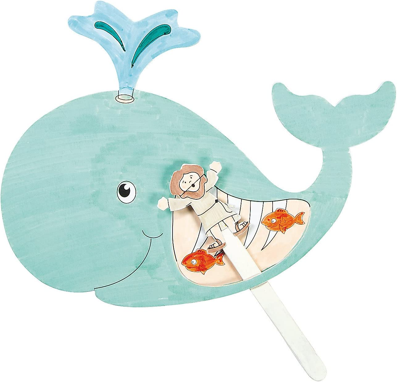 Fun Express Max 84% OFF Color Your shopping Own Jonah and - Makes Craft Kit The Whale