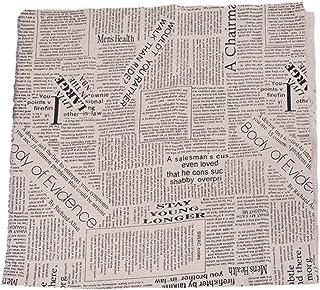 RainBabe Textile Tissu Coton Lin pr DIY Patchwork Couture Motif Journal 97cmx50cm