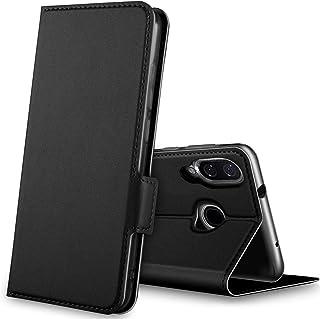 Kugi For Xiaomi Mi 9 case, Shockproof Flip case Kickstand with Credit Card Slots case For Xiaomi Mi 9 Smartphone. Black