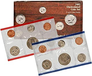 1985 P & D US Mint 10-Coin Mint Set Uncirculated