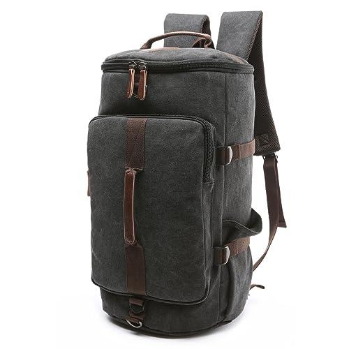 BAOSHA HB-26 3-Ways Vintage Canvas Men Holdall Weekend Travel Duffel Bag  Backpack 42b4afaa4a242