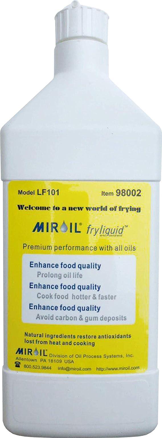 Miroil FryLiquid LF101 | 1 x 1 Litre Bottle | Antioxidant for Fry Oil | Prevent Oil Breakdown | Fry Healthier | Vitamin Therapy for Deep Fryer Oil | Item 98002 | Reduce Oil Costs | 1 x 1 litre (1)