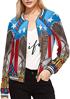 Women's American Eagle with USA Flags Classic Jacket