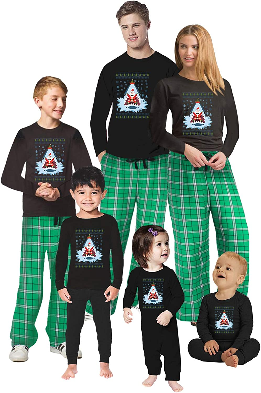 Awkward Styles Christmas Pajamas for Family Xmas Santa in Shark Matching Christmas Sleepwear Men PJ Set Style 2 L