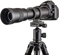 Fotga 420-800mm f / 8.3-16 Manual Super Teleobjetivo Zoom Lente + T2-Canon para Canon EOS 1D 5D II III IV 6D 7D 40D 50D 60D 100D 450D 500D 550D 600D 700D 1000D 1100D 1200D DSLR Cámara