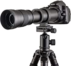Fotga 420-800mm f / 8.3-16 Manual Super Telephoto Zoom Lens + T2-Canon for Canon EOS 1D 5D II III IV 6D 7D 40D 50D 60D 100D 450D 500D 550D 600D 700D 1000D 1100D 1200D DSLR Camera (for Canon DSLR)