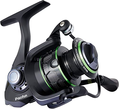 Piscifun Spinning Reel Lightweight Smooth Fishing Reel 10+1BB Carbon Fiber Drag Powerful Spin Reels