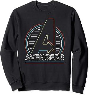 Marvel Avengers Logo in Neon Lights Sweatshirt